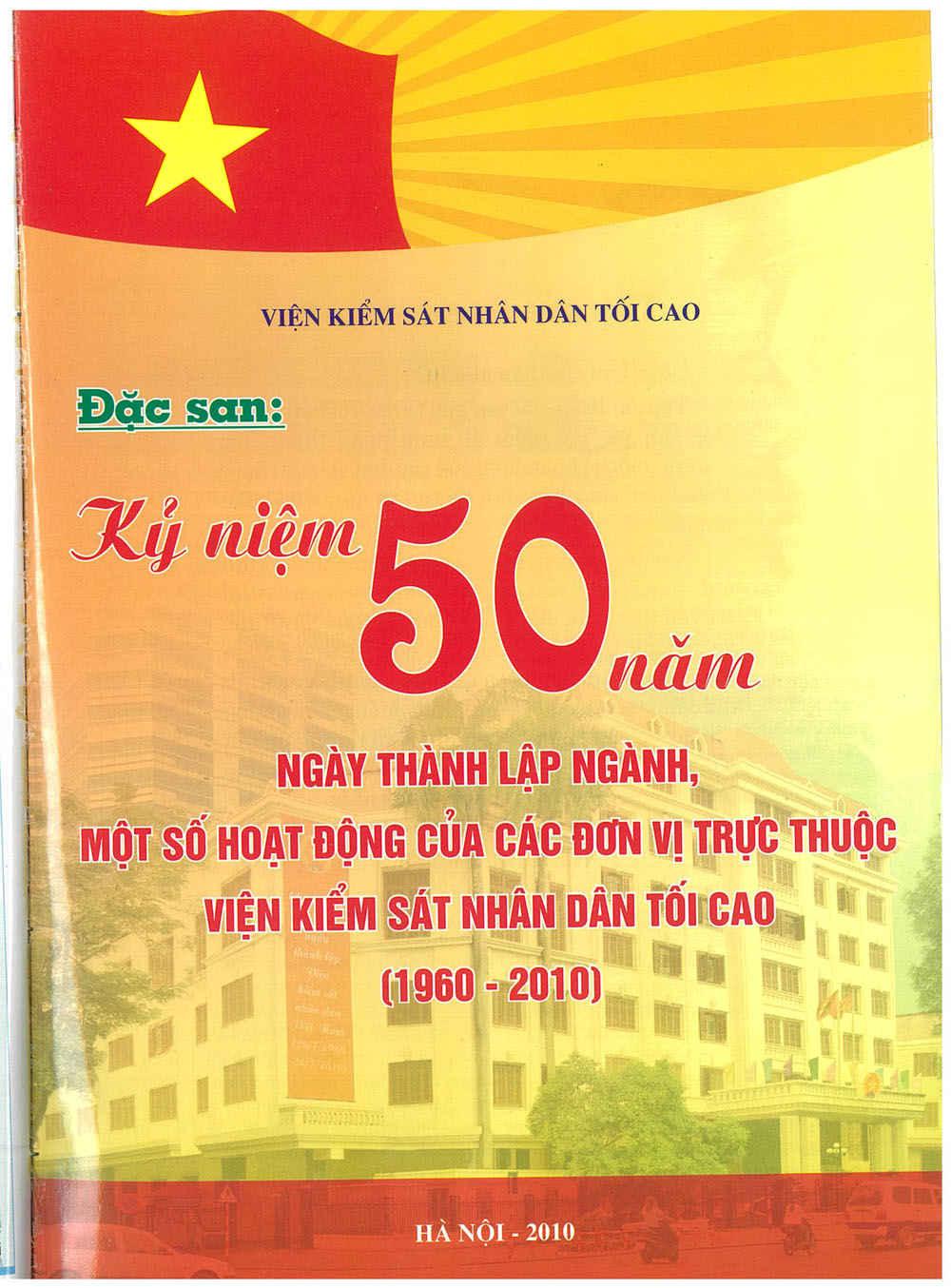 Mời quý vị và các bạn đọc Đặc san Kỷ niệm 50 năm ngày thành lập ngành KSND