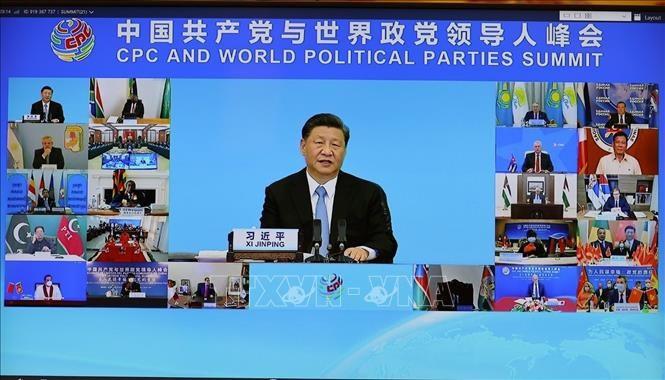 Tổng Bí thư, Chủ tịch nước Trung Quốc Tập Cận Bình phát biểu khai mạc Hội nghị thượng đỉnh giữa Đảng Cộng sản Trung Quốc với các chính đảng trên thế giới. Ảnh: TTXVN